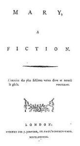 La novela de María de Mary Wollstonecraft
