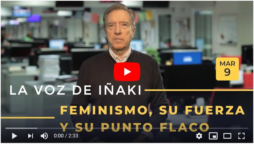 Vídeo Iñaki Gabilondo Feminismo 9 de marzo de 2020